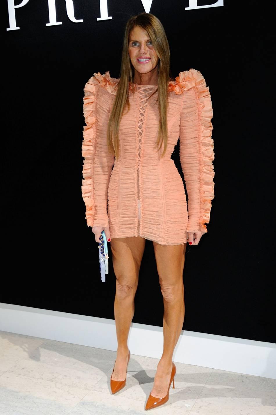 Anna Dello Russo au défilé Haute Couture Printemps-Été 2016Armani Privé.