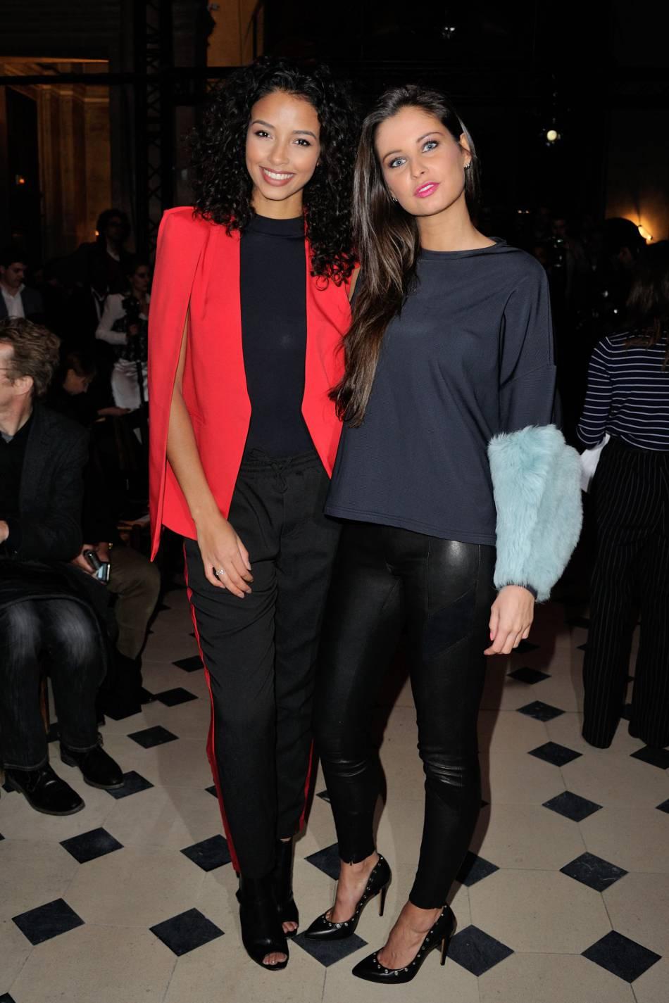 Flora Coquerel et Malika Menardau défilé Haute Couture Printemps-Été 2016Julien Fournié.