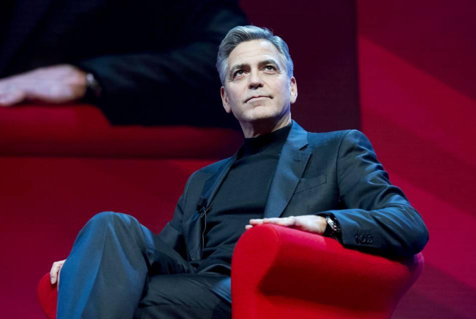 George Clooney au Good Money Gala, mardi à Amsterdam.