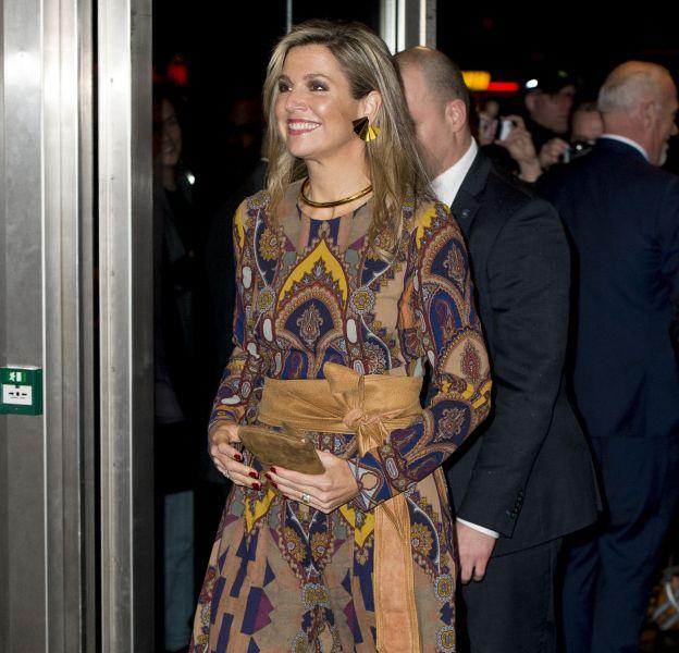 La reine Maxima des Pays-Bas lors de l'ouverture du Festival du Film International de Rotterdam le 27 janvier 2016.