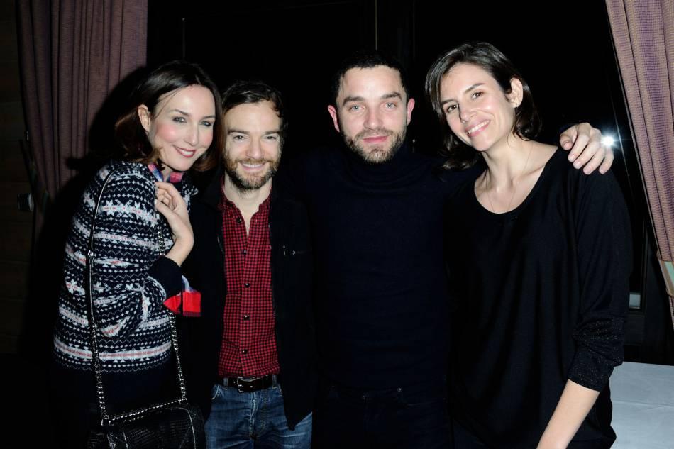 Elsa Zylberstein, Jonathan Lambert, Guillaume Gouix et Louise Monot à Gérardmer, le 28 janvier 2016.