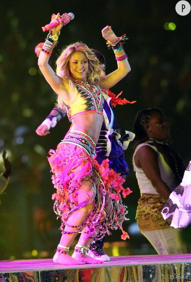 Shakira lors de la clôture de la Coupe du monde de football 2010.