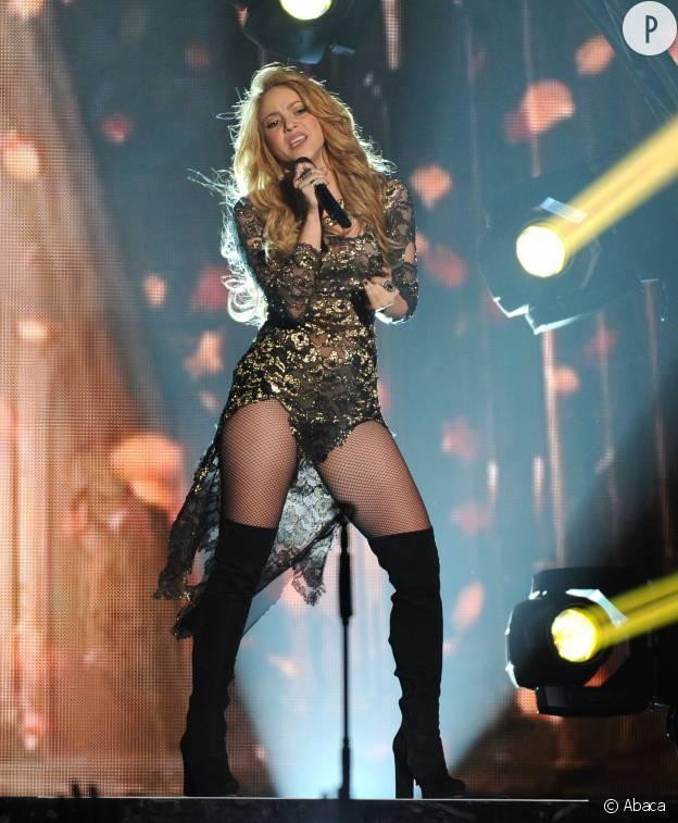 Shakira en concert à Vegas en 2014.