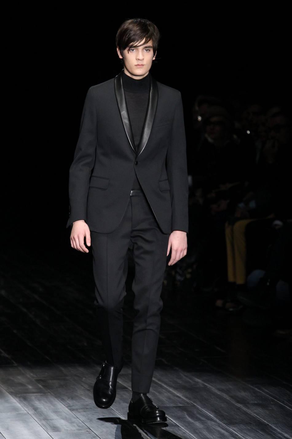 Alain-Fabien Delon en 2014 lors d'un de ses premiers passages sur les podiums de la Fashion Week. A quand le prochain ?