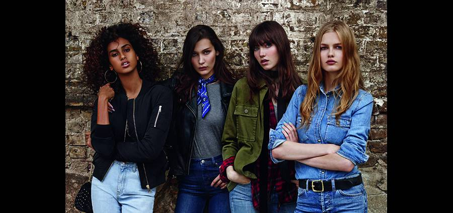 "Bella Hadid, Malaika Firth... le gang de top ""new generation"" de Topshop"