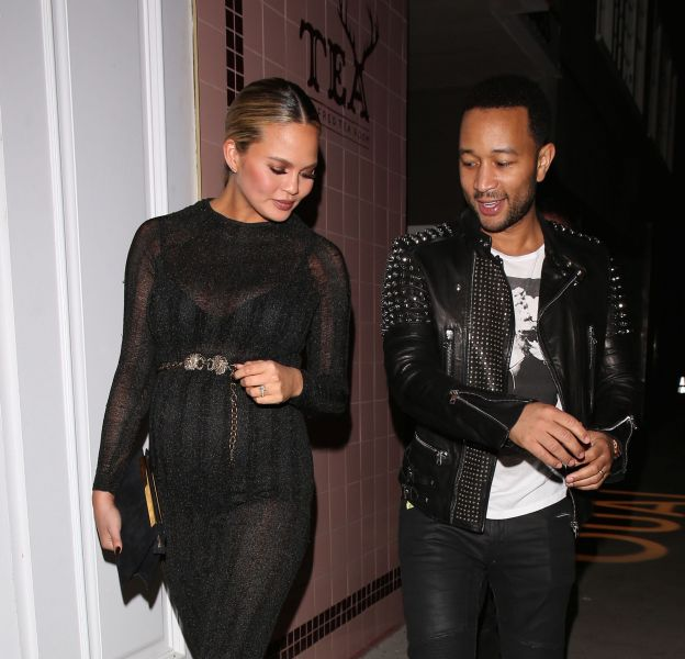 Chrissy Teigen et John Legend à Los Angeles le 4 février 2016.