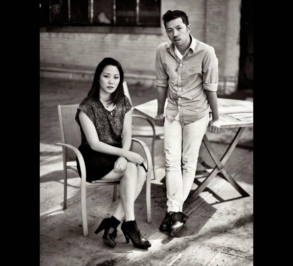 """Carol Lim et Humberto Leon, le couple de directeurs artistiques de l'enseigne française Kenzo présentent leur nouvelle collection Printemps-Été et leur nouveau court métrage """"Snowbird"""""""