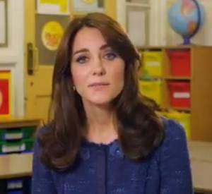 Kate Middleton, la duchesse de Cambridge, prend la parole pour le bient-être des enfants.