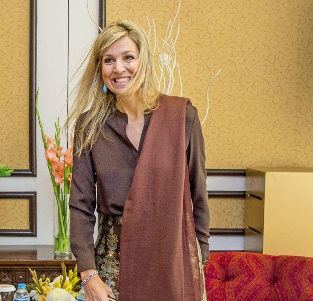 Maxima des Pays-Bas a opté pour une tenue inspirée du sari indien.
