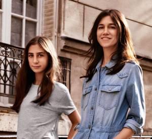 Charlotte Gainsbourg et sa fille Alice : visages d'une capsule 100% denim