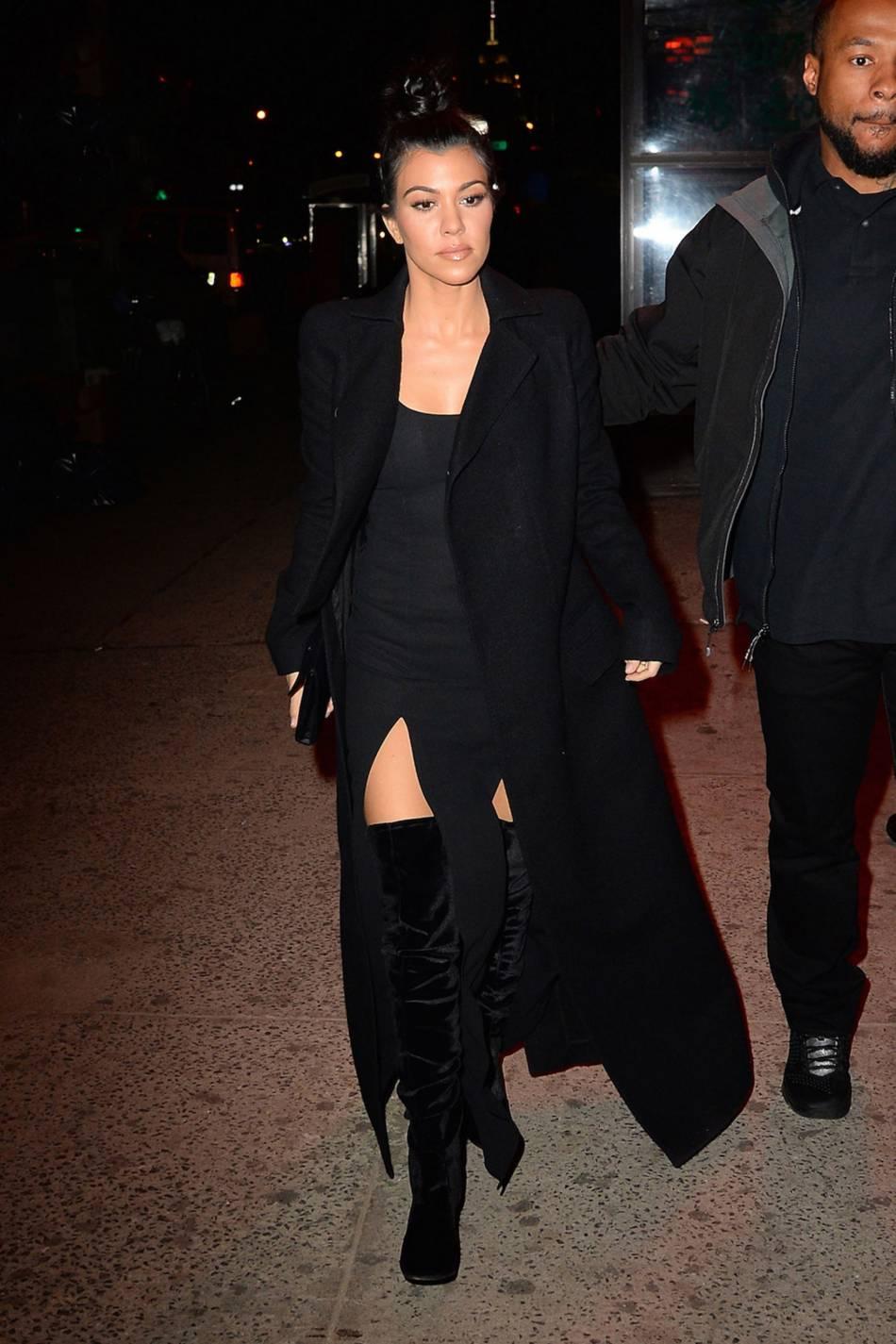 Kourtney Kardashian de sortie dans la ville de New York ce mercredi 10 février 2016.