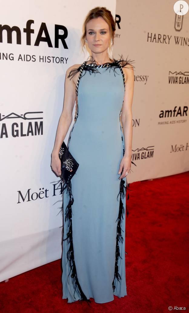 Diane Kruger en Prada au gala de l'amfAR.