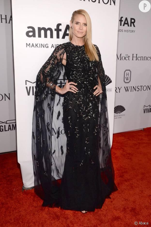 amfAR : Heidi Klum dans une robe Zuhair Murad.