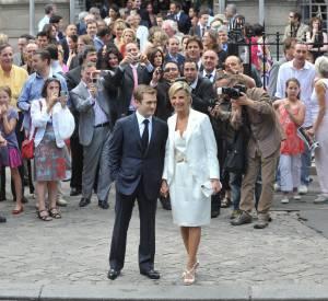 Laurence Ferrari et Renaud Capuçon le jour de leur mariage, en juillet 2009.