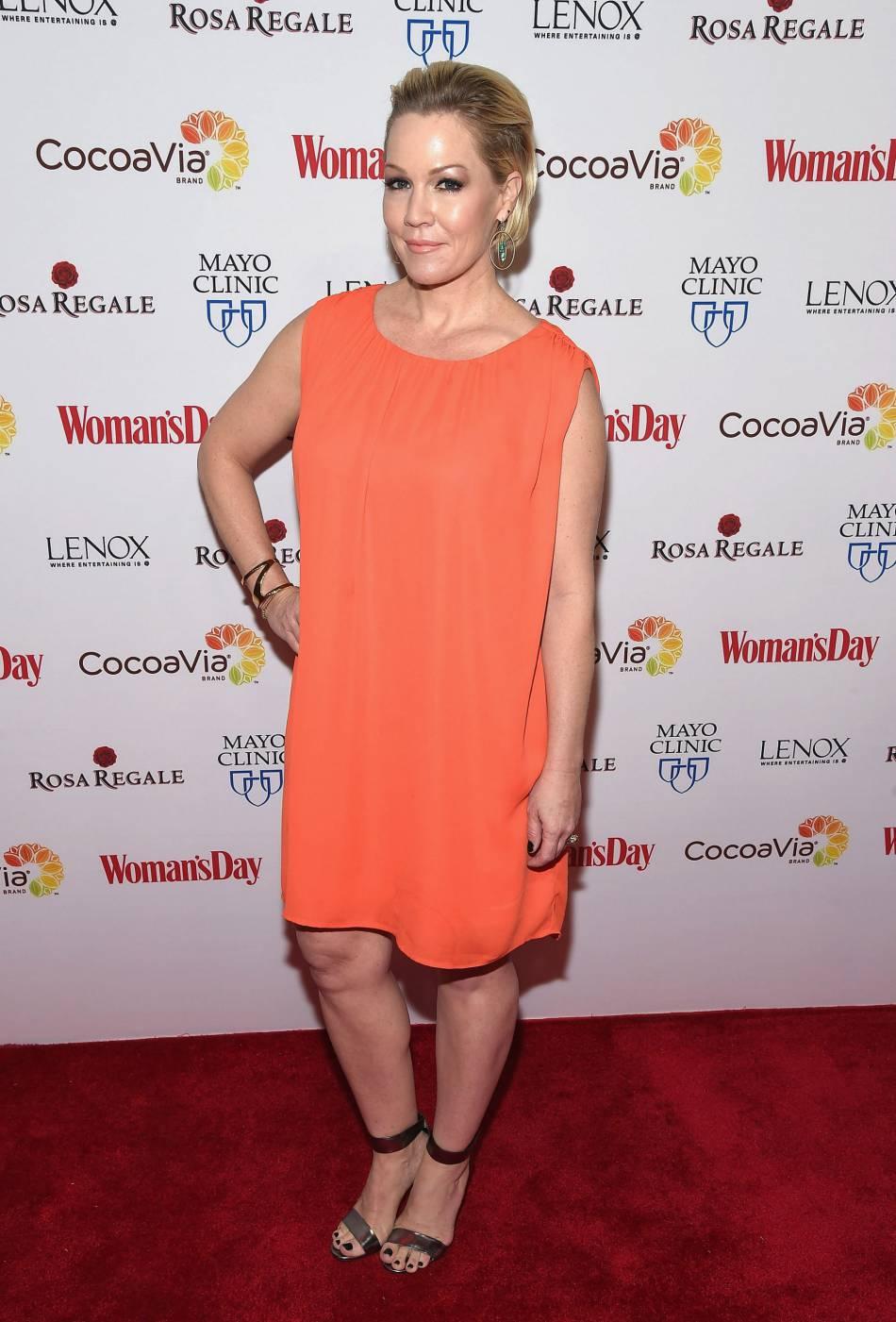 Jennie Garth sur le tapis rouge des Woman's Day Red Dress Awards, le 9 février.