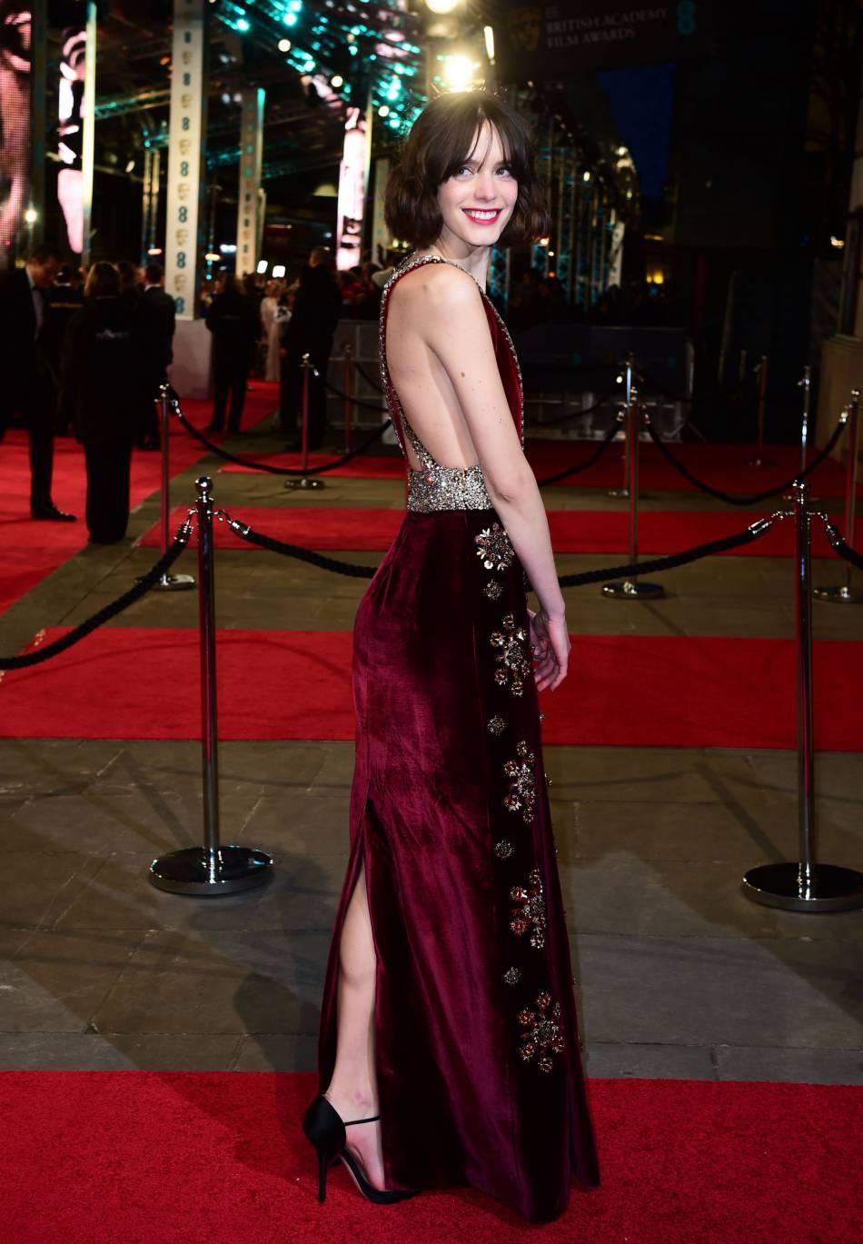 Stacy Martin aux BAFTA Awards, ce dimanche 14 février 2016.