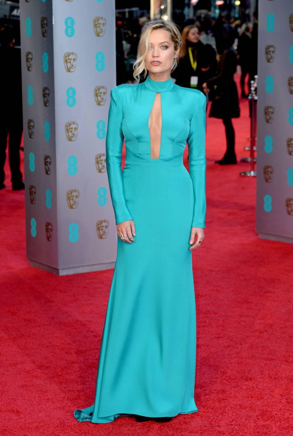 Laura Whitmore aux BAFTA Awards, ce dimanche 14 février 2016.
