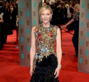 Cate Blanchett en Alexander McQueen aux BAFTA Awards, ce dimanche 14 février 2016.