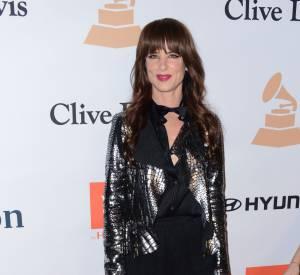 "Juliette Lewis sort la minijupe au gala ""Pre-GRAMMY and Salute to Industry Icons honoring Irving Azoff"" au Beverly Hilton Hotel à Los Angeles le 14 février 2016."
