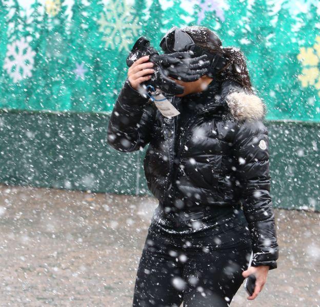 Kim Kardashian profite d'un séjour au ski dans la station de Vail dans le Colorado.