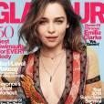 Emilia Clarke, covergirl décolletée pour le numéro d'avril 2016 de Glamour US.