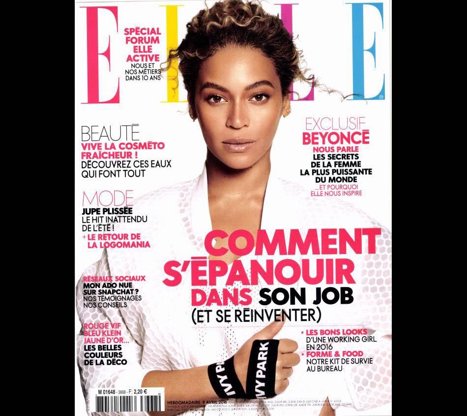 Beyoncé fait la couverture du dernier ELLE, en kiosque ce 8 avril.