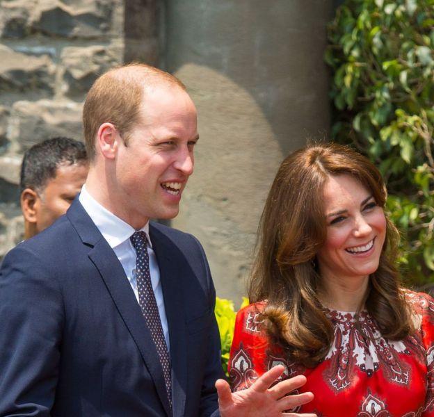 Kate Middleton et le prince William à Mumbai dimanche 10 avril 2016.