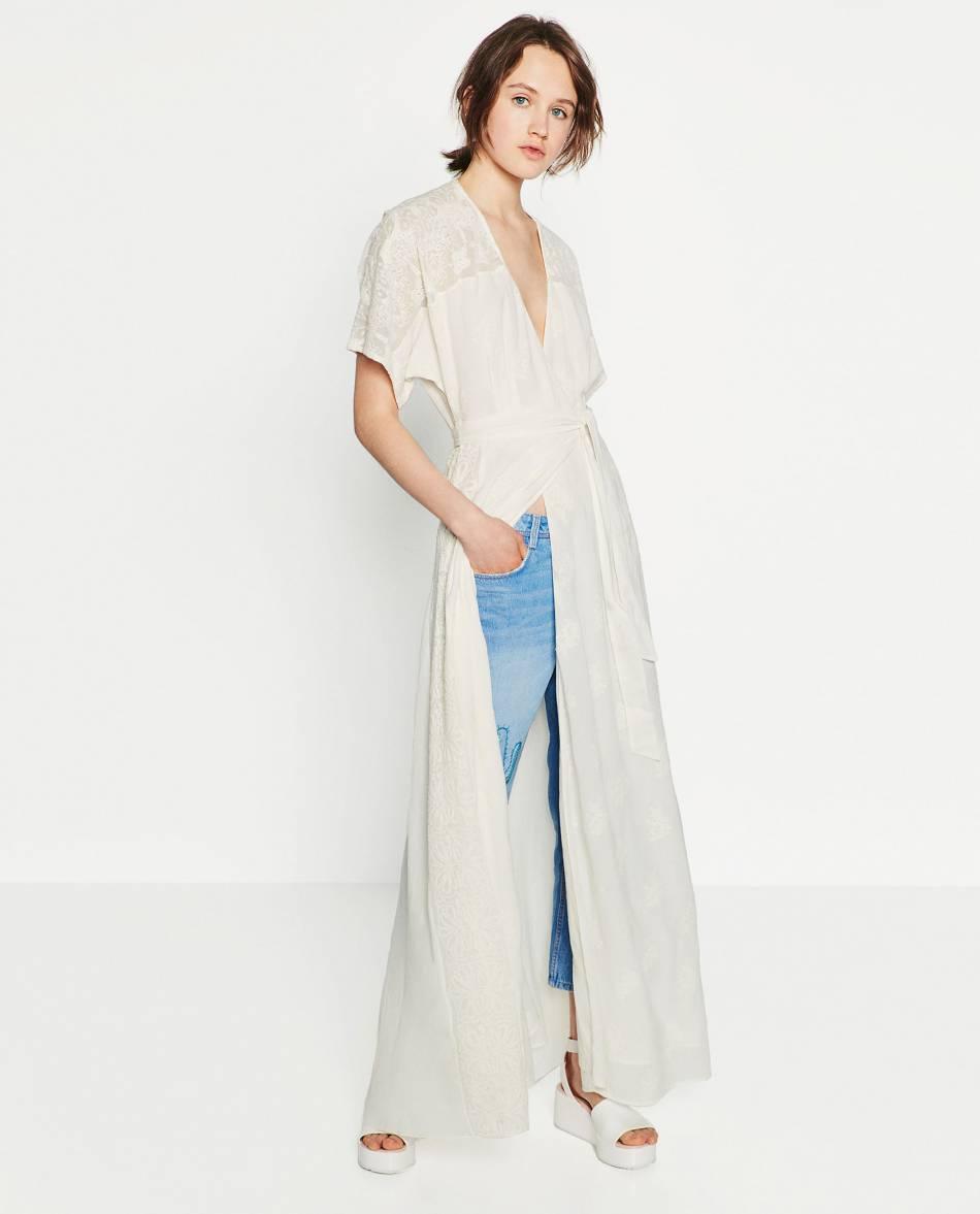 Robe chemise blanche zara