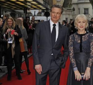 Helen Mirren et Colin Firth, un duo d'acteurs très élégants sur le red carpet londonien.