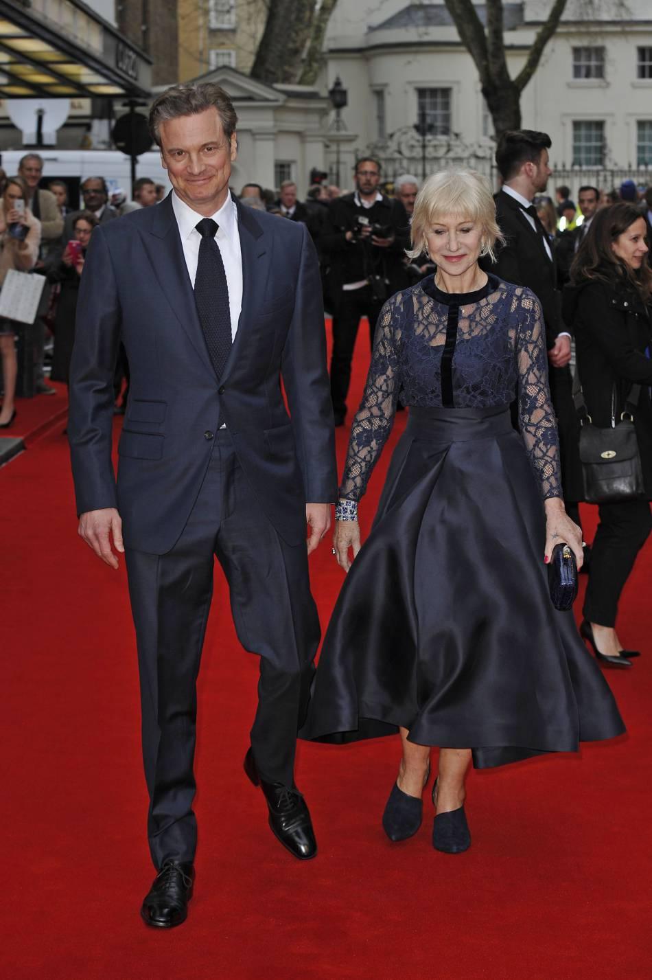 Helen Mirren a pu compter sur la présence de son ami Colin Firth, 55 ans, pour l'accompagner sur le tapis rouge.
