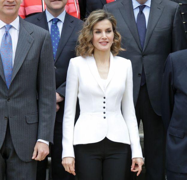 Letizia d'Espagne au palais de la Zarzuela à Madrid le 14 avril 2016.