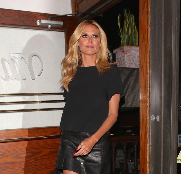 Heidi Klum à la sortie du Madeo restaurant à West Hollywood ce lundi 18 avril 2016.