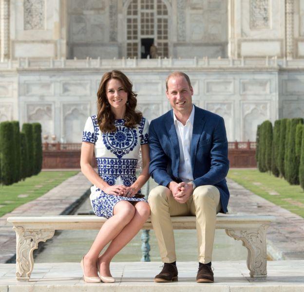 Kate Middleton et le prince William en Inde en avril 2016.