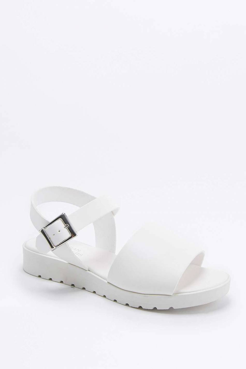 Chaussures blanches, Urban Outfitters, 52\u20ac.
