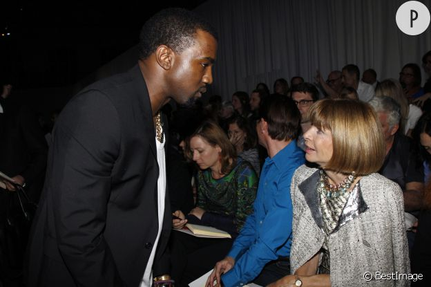 Kanye West et Anna Wintour, papesse de la mode.