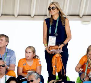 La reine Maxima a pu se féliciter de la victoire des Néerlandais en hockey et planche à voile.