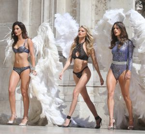 Alessandra Ambrosio, Lily Aldridge : les Anges de Victoria's Secret à Paris