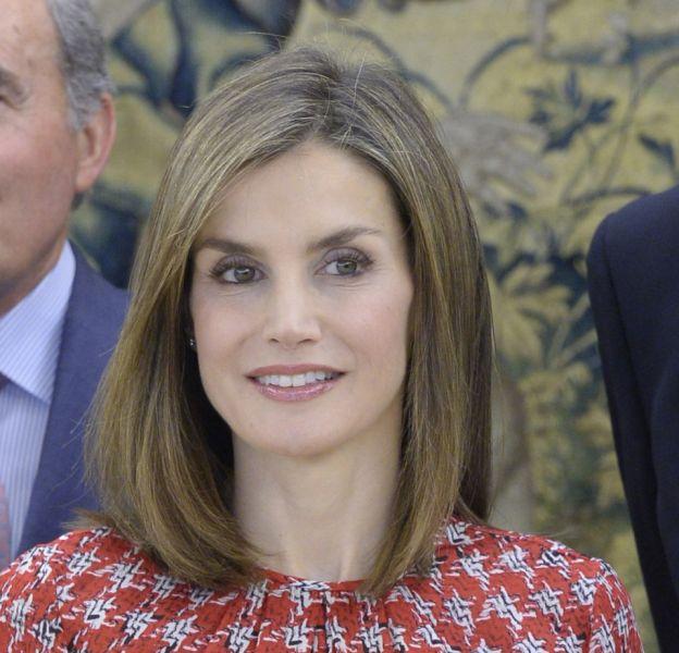 Letizia d'Espagne participait ce vendredi 9 septembre 2016 à une audience au palais royal à Madrid.
