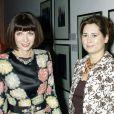 Alexandra Shulman, rédactrice en chef du  Vogue  anglais, avec Anna Wintour, en 2002.