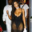 La star de télé-réalité Kim Kardashian et son mari Kanye West à Miami