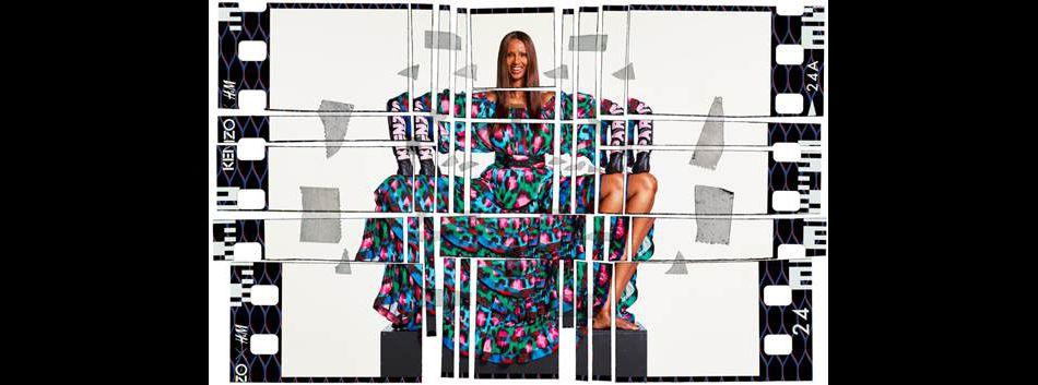 Iman pour la campagne Kenzo x H&M.