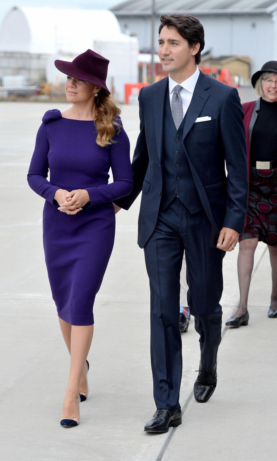 Le Premier ministre, Justin Trudeau, et son épouse Sophie faisaient aussi partie du comité d'accueil.