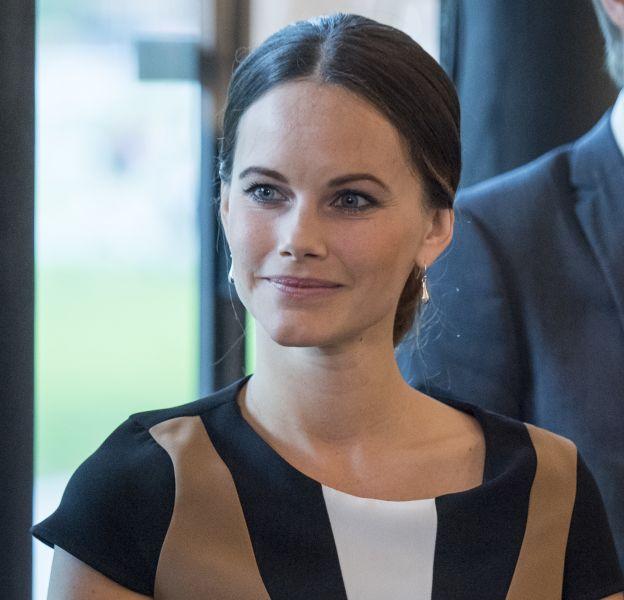 """La princesse Sofia (Hellqvist) de Suède inaugure l'exposition """"Porphyry, the royal stone on Sven-Harrys"""" au musée des arts de Stockholm le 27 septembre 2016."""