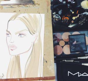 En backstage, c'est MAC qui officie le make-up.