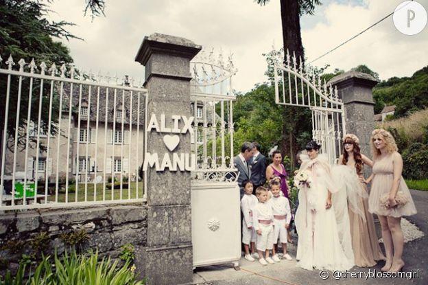 Le mariage d'Alix du blog Cherry Blossom Girl.