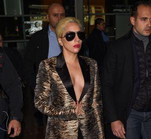 Lady Gaga : nue sous son blazer à Paris