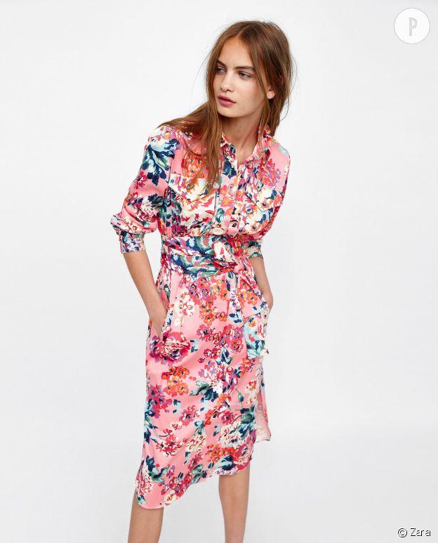 classic style best quality quality design Zara robe bleue fleurs – Robes élégantes 2019