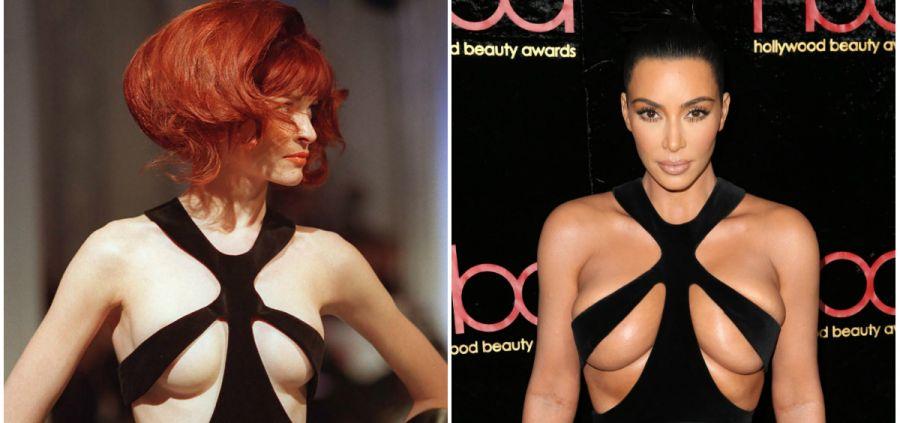 Kim Kardashian pioche dans les archives Mugler, attention les yeux