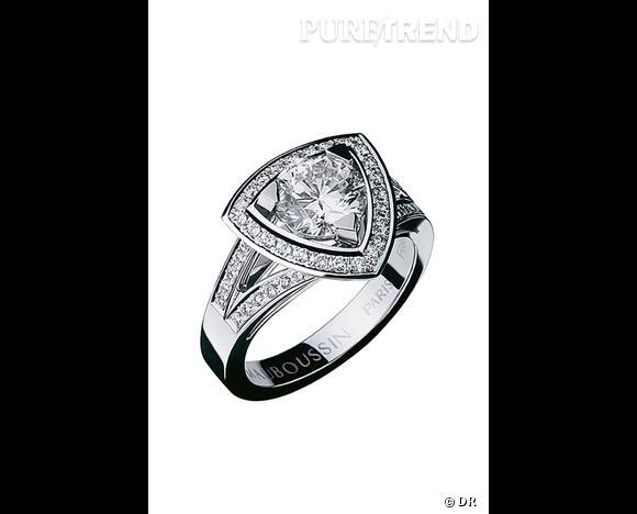 bague diamant triangle