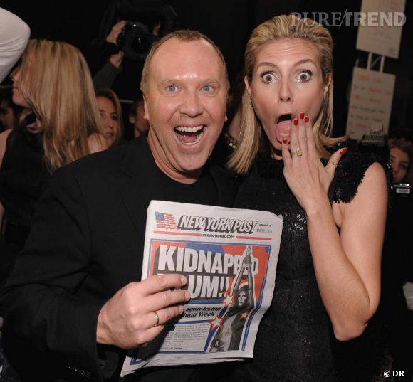 Heidi Klum et [brand=4294929108]Michael Kors[/brand] ne se quittent plus. Des podiums, aux coulisses des chaînes de télévision, ce binome couture s'engage ensemble dans la lutte contre le cancer du sein.